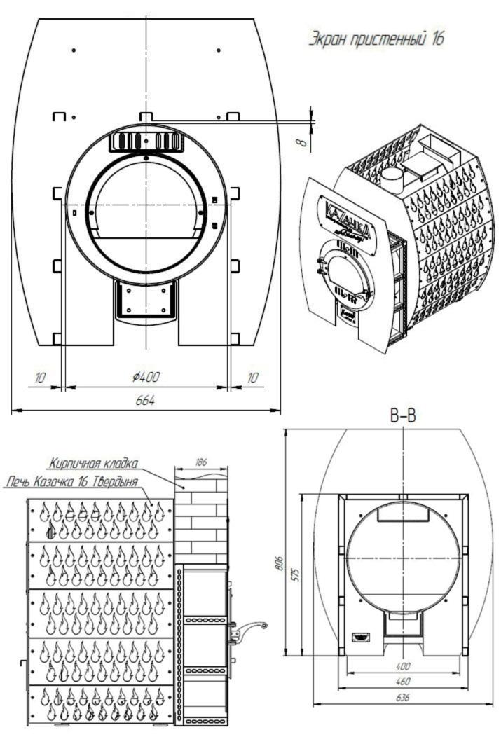 Размеры Проходной стеновой узел ПСУ-16Т